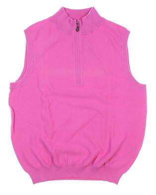 New Mens DONALD ROSS Sweater Vest Medium M Pink MSRP $115 DR263114-612