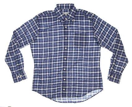 New Mens Peter Millar Flannel Button Down Large L Blue MSRP $148 MF20W17NBL