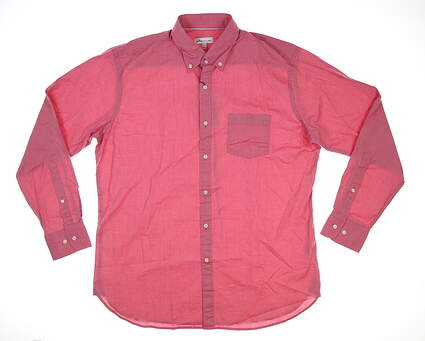 New Mens Peter Millar Button Down Large L Red MSRP $145 MS20W60CVL