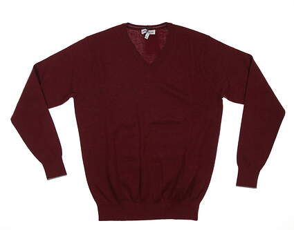 New Mens Peter Millar Sweater Small S Wine MSRP $335 MF19S14