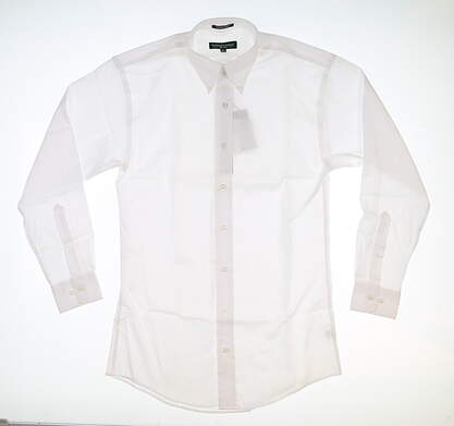 New Mens Fairway & Greene Button Down Large L White MSRP $125 D11420CW