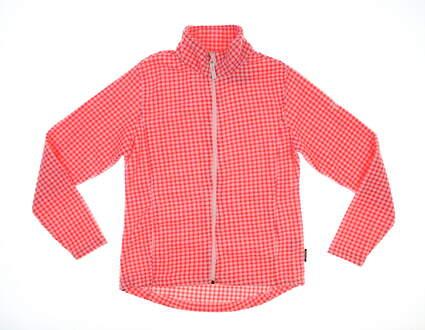 New Womens Abacus Fleece Jacket Medium M Pink MSRP $115 2469