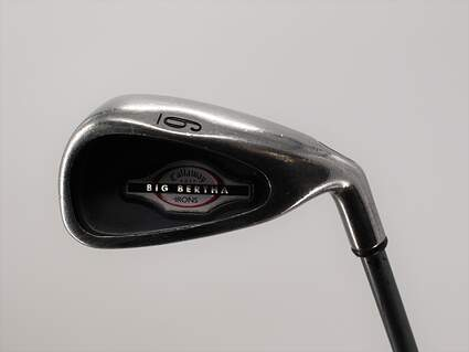 Callaway 2002 Big Bertha Single Iron 6 Iron Callaway RCH 75i Graphite Regular Right Handed 37.0in