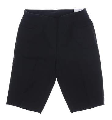 New Womens Slim Station Golf Shorts 12 Black MSRP $54 G2632W
