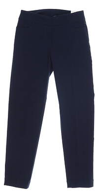 New Womens Slim Station Pants 4 Navy Blue MSRP $69
