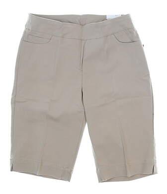 New Womens Slim Station Golf Shorts 10 Khaki MSRP $54 G2632W