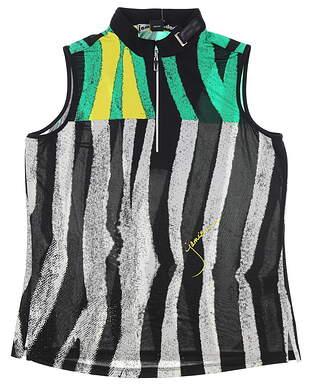 New Womens Jamie Sadock Sleeveless Golf Polo Medium M Emerald City MSRP $89 82211