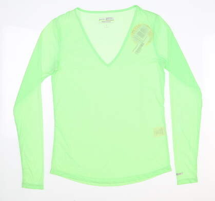 New Womens Jamie Sadock Long Sleeve Small S Green MSRP $60 61127