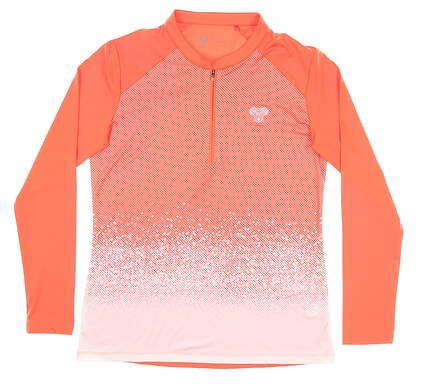 New W/ Logo Womens Level Wear Pullover Medium M Orange MSRP $72