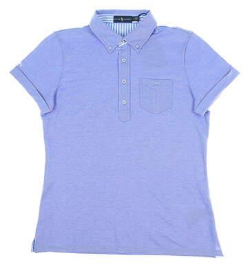 New Womens Ralph Lauren Pique Polo Medium M Blue MSRP $75