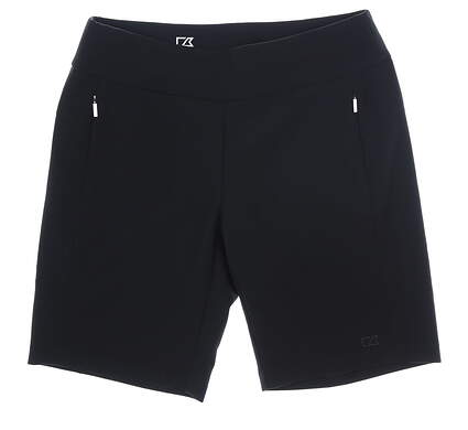 New Womens Cutter & Buck Shorts Large L Black MSRP $80 LCB07135