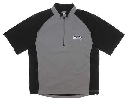 New W/ Logo Mens Cutter & Buck Short Sleeve Wind Jacket Small S Multi MSRP $90 MCO00948