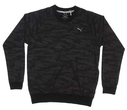 New Mens Puma Embossed Windshirt Medium M Puma Black MSRP $85 597595 01