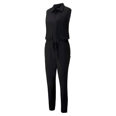 New Womens Puma Twilight Jumpsuit Small S Black MSRP $80 597705 01