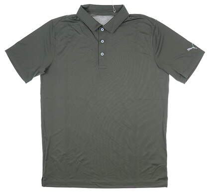 New Mens Puma Rotation Polo Medium M Thyme MSRP $55 577875 33
