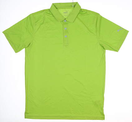 New Mens Puma Rotation Polo Medium M Greenery MSRP $55 577875 36