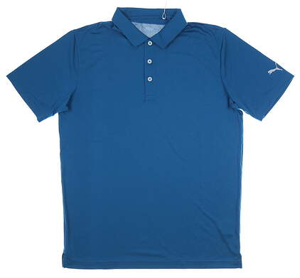 New Mens Puma Rotation Polo Medium M Digi Blue MSRP $55 577875 31