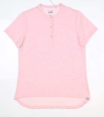 New Womens Puma Essence Polo Small S Peachskin MSRP $60 597690 02