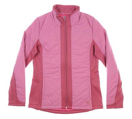 New Womens Puma Primaloft Jacket Small S Rose Wine MSRP $160 597709 02