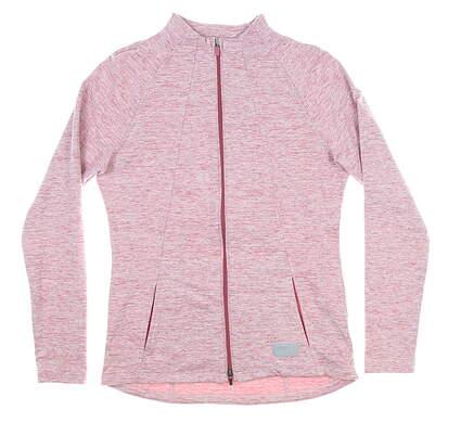 New Womens Puma Cloudspun Warm Up Jacket Small S Rose Wine MSRP $80 595850 07