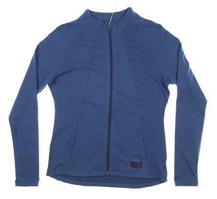 New Womens Puma Warm Up Jacket Small S Dark Denim MSRP $80 595850 03