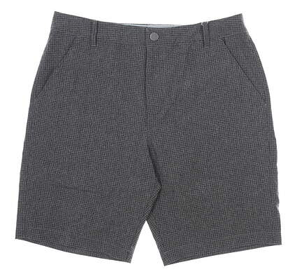 New Mens Puma Check Shorts 32 Gray MSRP $75 597604 01