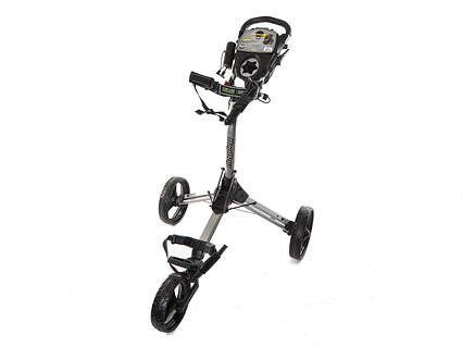 Brand New In Stock Bag Boy Compact 3 Wheel Push and Pull Cart Silver/Black