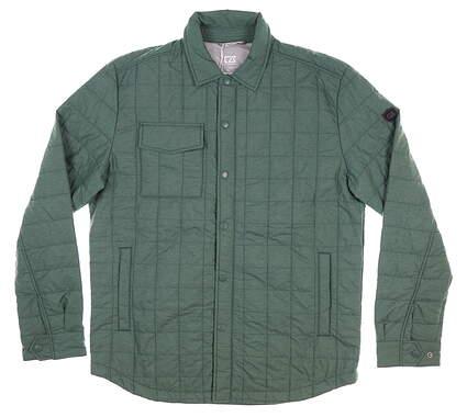 New Mens Cutter & Buck Rainier Shirt Jacket Large L Green MSRP $185 MCO00032