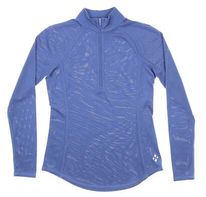 New Womens Jo Fit 1/4 Zip Pullover X-Small XS Blue MSRP $100 UT232-IDO