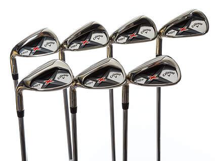 Mint Callaway X Hot 19 Iron Set 5-PW GW True Temper XP 85 Steel Regular Left Handed 38.0in