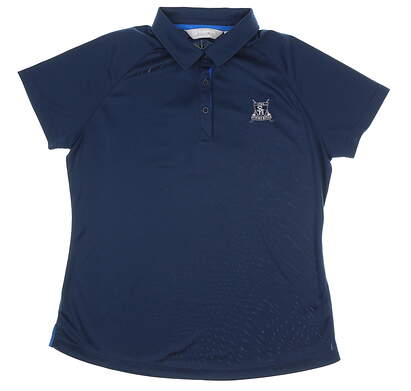 New W/ Logo Womens SUNICE Jill Basic Polo Large L Navy Blue MSRP $70 841522