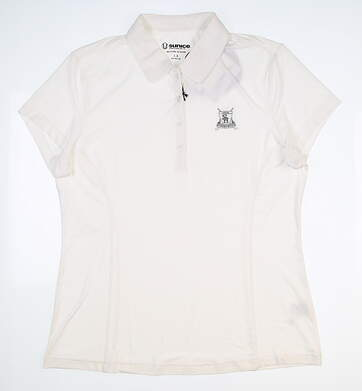 New W/ Logo Womens SUNICE Jacqueline Polo Large L White MSRP $70 831515