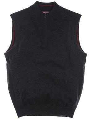 New W/ Logo Mens Mizuno Hayate Sweater Vest Large L Black MSRP $85