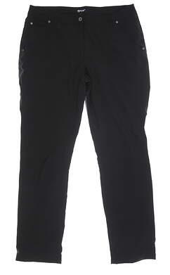 New Womens Abacus Rain Pants 12 Black MSRP $89 2052