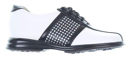 New Womens Golf Shoe Sandbaggers Krystal 9 White/Black MSRP $145 5904