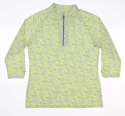 New Womens Sport Haley 3/4 Sleeve Polo Small S Multi MSRP $75 H10305TM