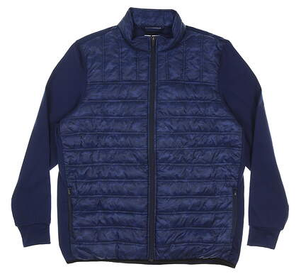 New Mens Straight Down Patton Jacket Large L Navy Blue MSRP $104 60380