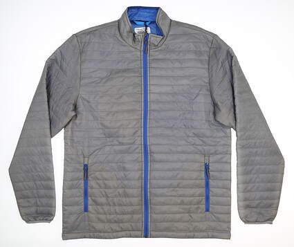 New Mens Straight Down Jacket Medium M Gray MSRP $136 60493