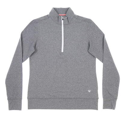 New Womens Straight Down Skye 1/4 Zip Pullover Small S Gray MSRP $104 W60303