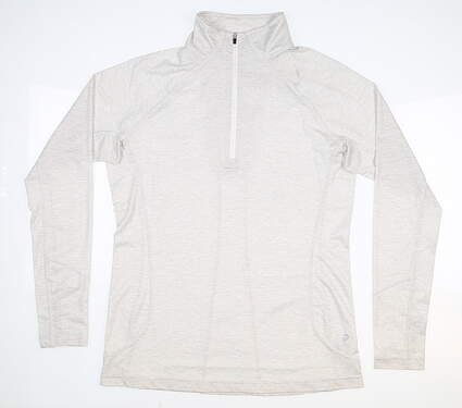 New Womens Straight Down Claire 1/4 Zip Pullover Medium M White MSRP $88 W14220