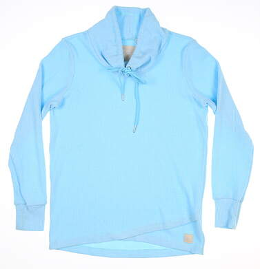 New Womens Straight Down Misty Pullover Small S Blue MSRP $88 W60299