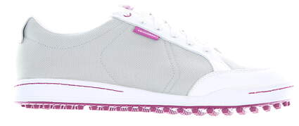 New Mens Golf Shoe Ashworth Cardiff 10.5 White/Grey/Magenta MSRP $160