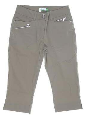 New Womens Daily Sports Miracle Capris 8 Gray MSRP $124 643/217