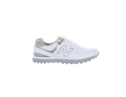 New Womens Golf Shoe New Balance Medium 9 White/Rose Gold MSRP $100 NBGW574WRG