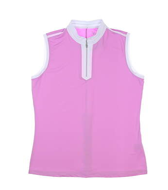 New Womens Nivo Sport Golf Sleeveless Polo Large L Pink MSRP $75 NI9210114