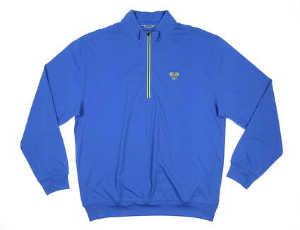 New W/ Logo Mens DONALD ROSS 1/2 Zip Golf Pullover Large L Patriot/Lime MSRP $125 DR211-119