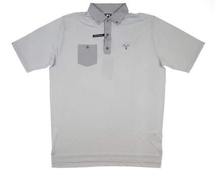 New W/ Logo Mens Footjoy Golf Polo X-Large XL Gray MSRP $82