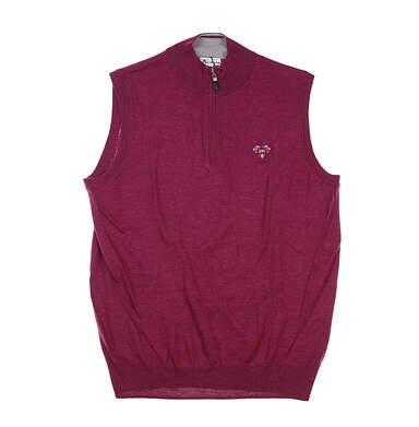 New W/ Logo Mens Peter Millar Sweater Vest Large L Purple MSRP $145 MF18S54