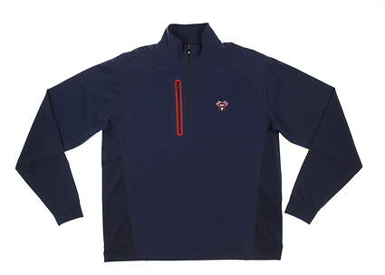 New W/ Logo Mens Footjoy Windtech 1/2 Zip Pullover X-Large XL Navy/Red MSRP $155 24771