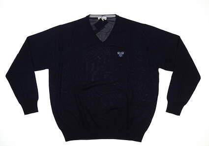 New W/ Logo Mens Peter Millar Golf Sweater XX-Large XXL Navy MSRP $140 ME0S31
